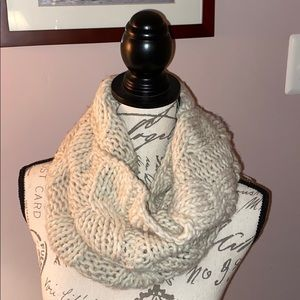 aerie tan knit infinity scarf